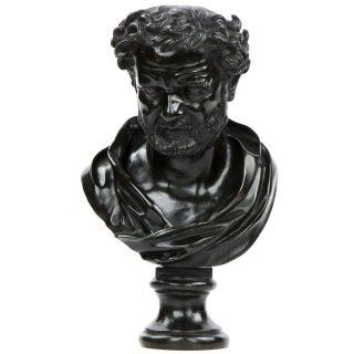 19th Century Italian Bronze Bust of a Roman Statesman
