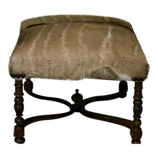 Square Kudu Hide Bench