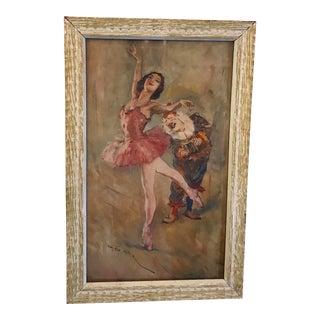 Framed Mid-Century Ballerina Print