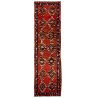 Early 20th Century Persian Kilim Runner - 3′11″ × 13′