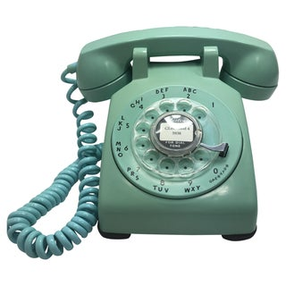 Turquoise 500 Rotary Dial Desk Phone
