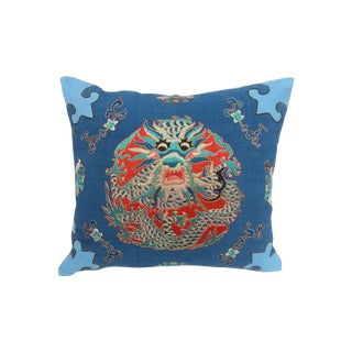 Embroidered Opera Robe Dragon Pillow