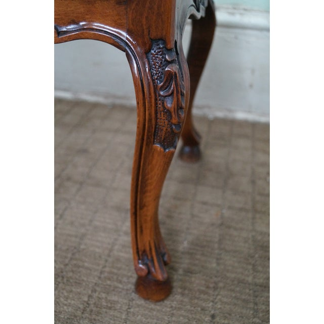 Image of Italian Made French Louis XV Style Cane Seat Bench