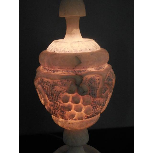 Large Art Deco Alabaster Lamp - Image 4 of 5