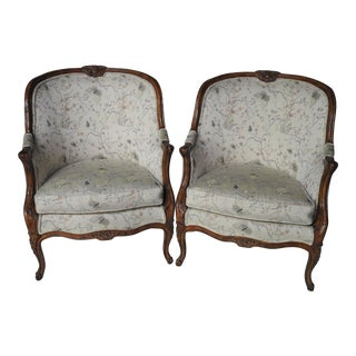 Louis XVI-Style Bergère Chairs - A Pair