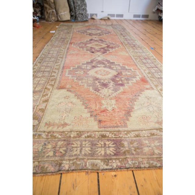"Distressed Oushak Runner - 4'4"" x 11'9"" - Image 5 of 8"