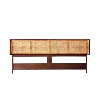 Walnut & Cane King Headboard