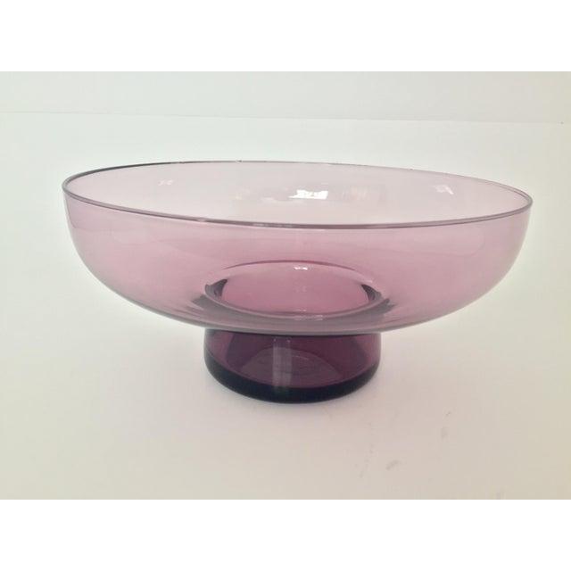 Vintage Lavender Scandinavian Art Glass Bowl - Image 3 of 7