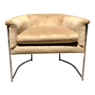 1960s Milo Baughman Style Accent Club Chair