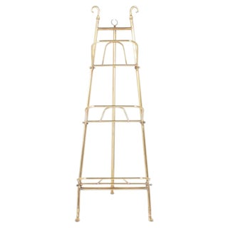 Edwardian Brass Three Tiered Easel or Rack