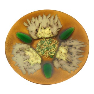 Edwards Star Enamel on Copper Dish