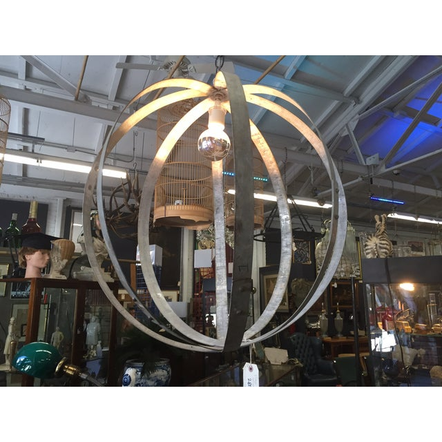 Upcycled Industrial Hanging Lamp - Image 2 of 3