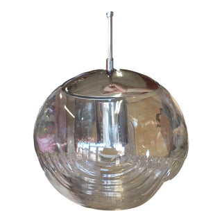 Piell and Putzler Wave Chrome & Glass Pendant Light