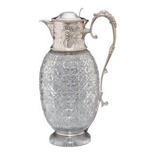 Silver & Cut-Glass Claret Jug