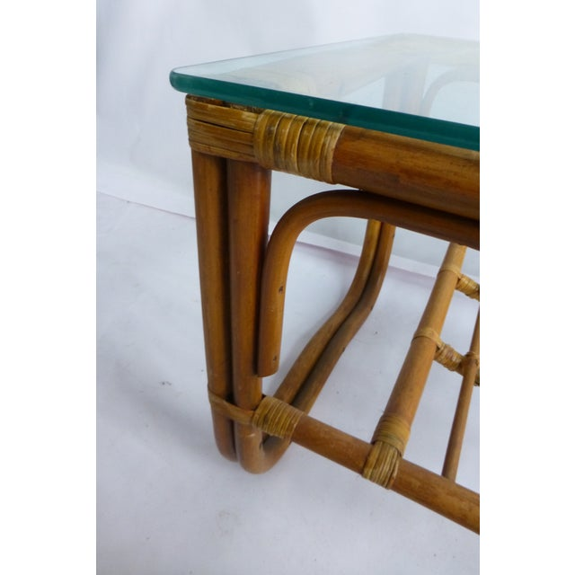 Vintage Mid-Century Bamboo Coffee Table - Image 6 of 9