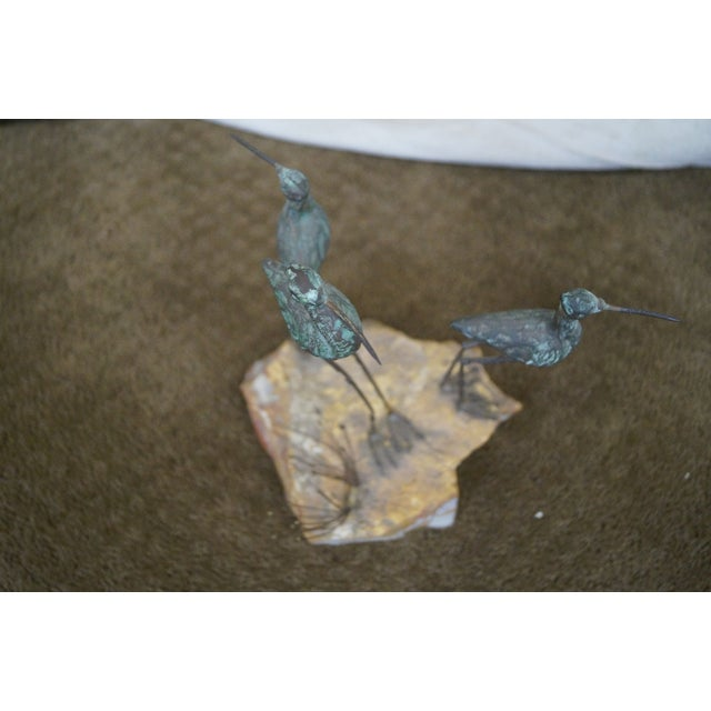 Curtis Jere Metal Sculpture of Shore Birds - Image 9 of 10