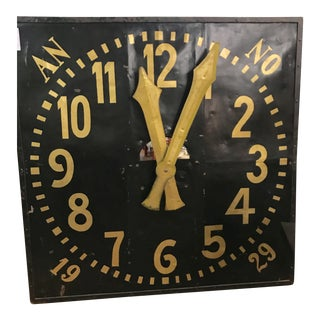 Antique European Metal & Gilt Clockface