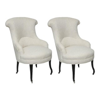 Late 19th Century French Armchairs - a Pair