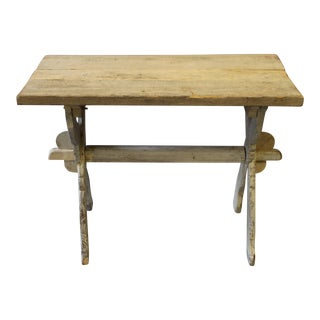 Bleached Pine Trestle Base Table