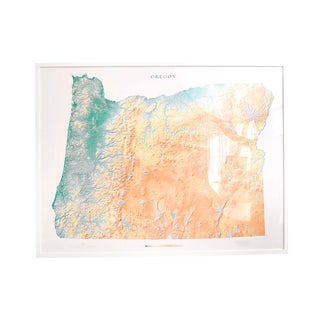 Framed Print of Map of Oregon