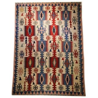 Vintage Turkish Kilim Rug - 9′2″ × 12′6″
