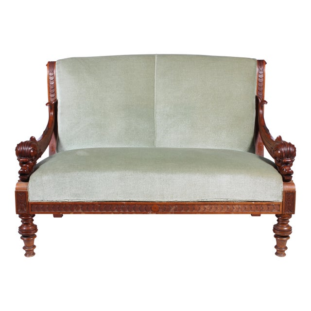 19th C. Renaissance Revival Dolphin Sofa - Image 1 of 6