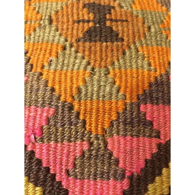 Antique Turkish Kilim Pillows - Pair - Image 7 of 8