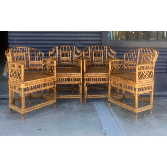 Vintage Brighton Style Rattan Chairs- Set of 4 - Image 3 of 9