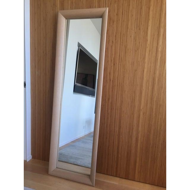 Ligne Roset Floor Standing Oak Frame Mirror - Image 2 of 9