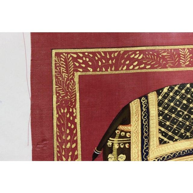 Image of Elephants Scene Printed On Silk - Set of 3