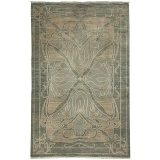 """Shalimar, Hand Knotted Area Rug - 4' 1"""" x 6' 4"""""""