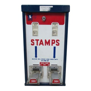 Vintage Steel Post Office Wall Hanging Stamp Machine