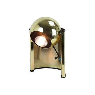 1970s Gold Eyeball Lamp