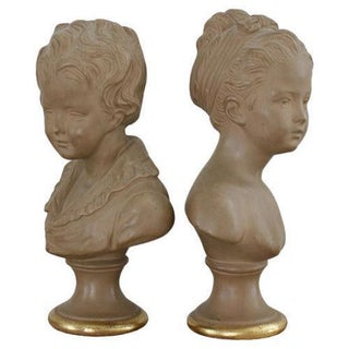 Boy & Girl Borghese Busts - A Pair