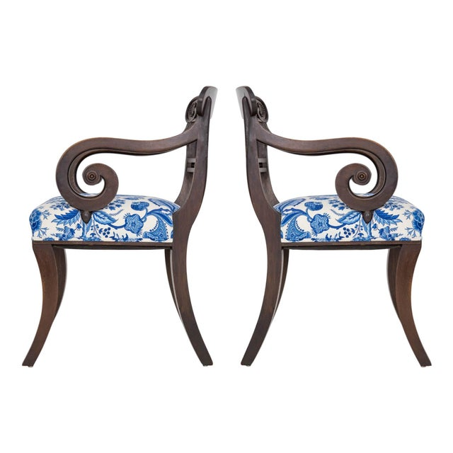 English Regency Carved Armchairs - A Pair - Image 2 of 10