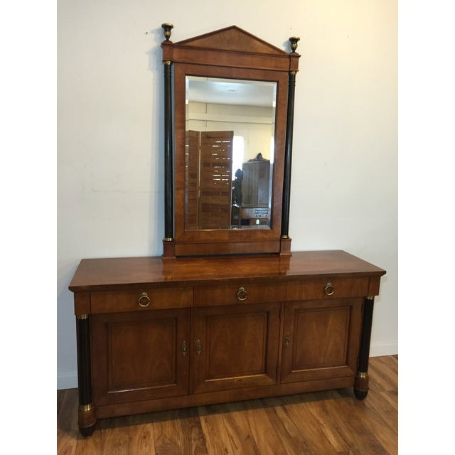 Image of Baker Furniture Credenza/Sideboard With Mirror