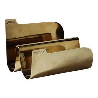 Vintage Brass Sarreid Letter Holder