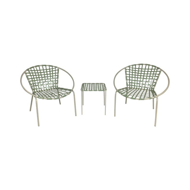 Mid-Century Green Hoop Chairs - A Pair - Image 1 of 8