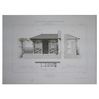 Cesar Daly 19th Century Architectural Drawing III