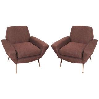 Italian Mid-Century Lounge Chairs Attributed to Radice