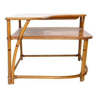 Heywood Wakefield Cane side table