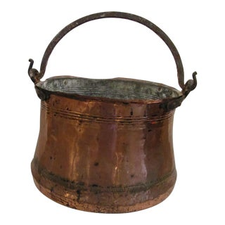 Antique Hand Forged Copper Pot