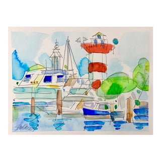 Lighthouse Bright Day Watercolor