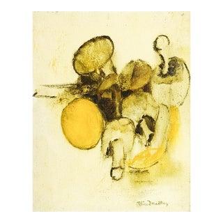 Modernist Mushrooms Still Life Painting