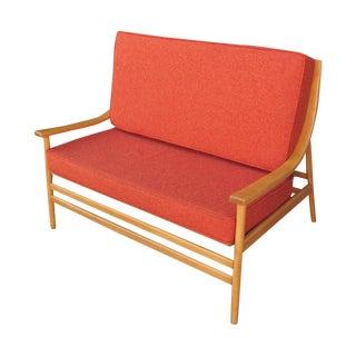 Spindle Back Swedish Mid-Century Sofa