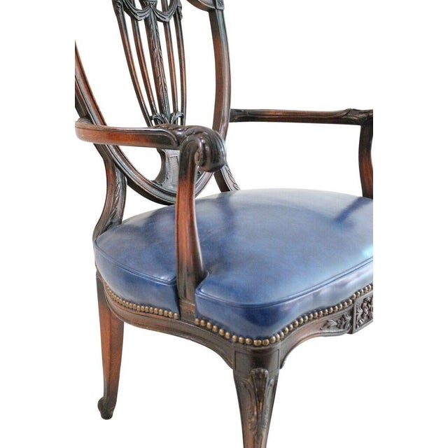 Walnut & Leather French Armchair - Image 3 of 4