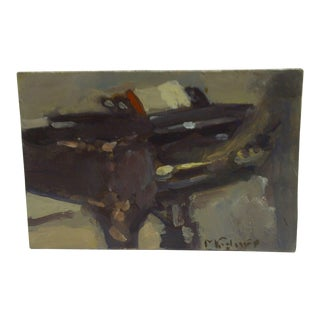 Original Painting on Board Playing the Piano by Frederick McDuff