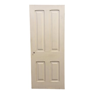 Vintage Beige 4 Panel Weathered Wood Door