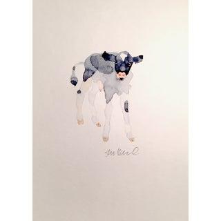 Black & White Calf Watercolor