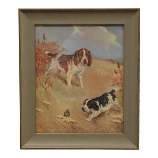 Custom Framed Vintage Dog Print